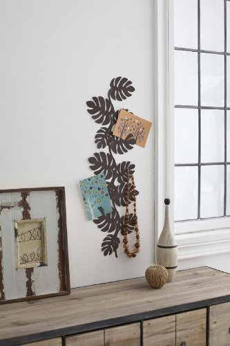 Leaf Modern Jewelry Holder Wall Display, Brown