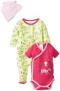 Zutano Baby-Girls My Pony Footie, Short Sleeve Wrap And Hat Set, Multi, Newborn/Preemie