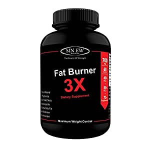 Sinew Nutrition Natural Fat Burner 3X (Green Tea, Green Coffee & Garcinia Cambogia Extract) - 700 mg (60 Veg Capsules)