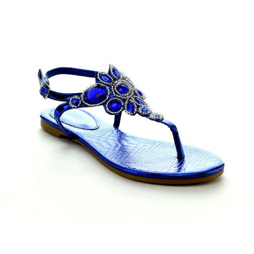 Rck Bella Sami-43 Women'S Fashion Thong Sandal Shoes, Color:Royal Blue, Size:5.5 back-935954