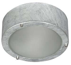 Ranex Cork 5000.314 60 Watt Indoor/ Outdoor Galvanised Steel Ceiling/ Wall Light from Smartwares Safety & Lighting