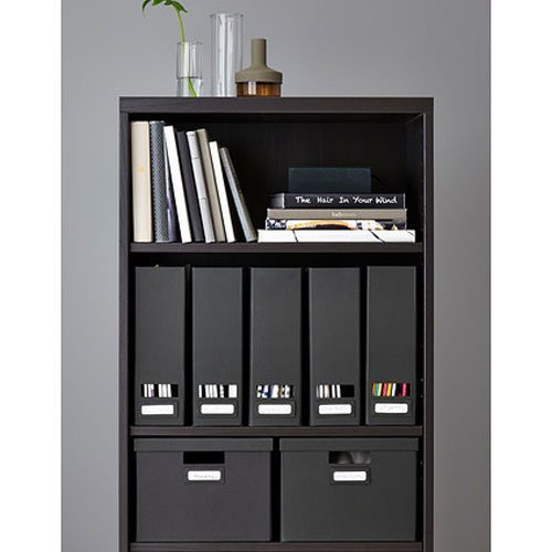 Set of 2 Ikea Tjena Magazine File Organizer Storage Black