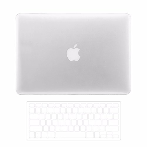 TOP CASE - 2 in 1 Bundle Pro 15-Inch Crystal Clear See Thru Hard Case Cover and Transparent TPU Keyboard Cover for Macbook Pro 15