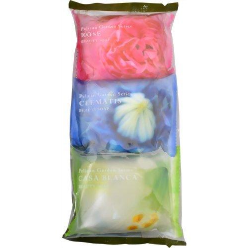 ペリカン ガーデンシリーズ石鹸 3個