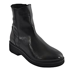 Salt N Pepper Route Black Real Leather Women Boots