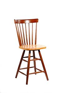 International Concepts S58-2902 24-Inch Copenhagen Swivel Barstool, Cinnamon/Espresso