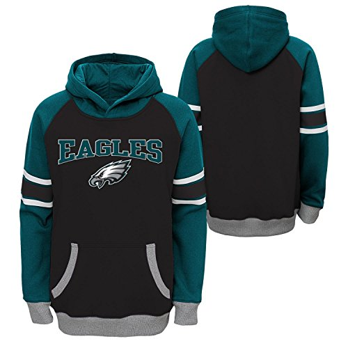 nfl-philadelphia-eagles-boys-robust-pullover-hoodie-black-medium-10-12