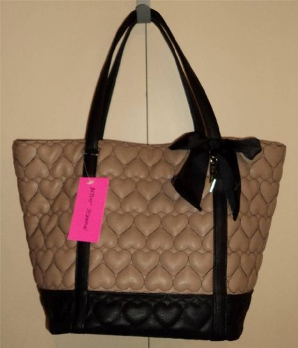 Betsey Johnson Tote Be Mine Spi Spice Heart Quilt Vegan Leather New W Tags Nwt front-1057774
