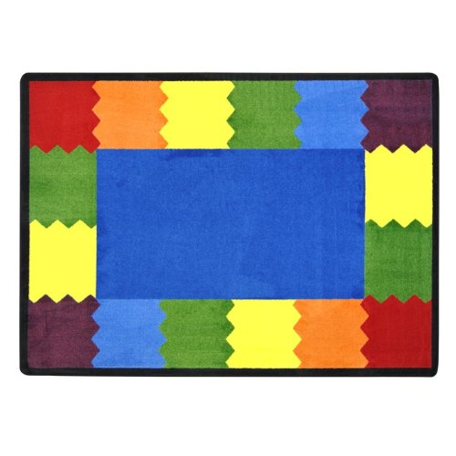 "Joy Carpets Kid Essentials Early Childhood Block Party Rug, Multicolored, 10'9"" x 13'2"""