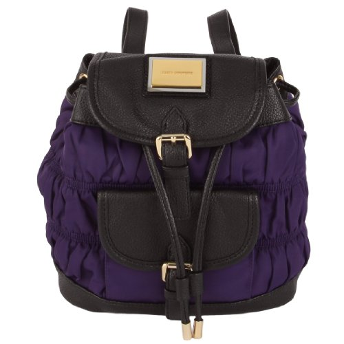 B00G6O4FZU Juicy Couture Nylon Rouched Mini Backpack-Purple