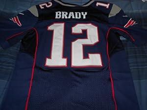 New England Patriots Tom Brady Blue On-field Jersey Size (Large) 44 by ON-FIELD