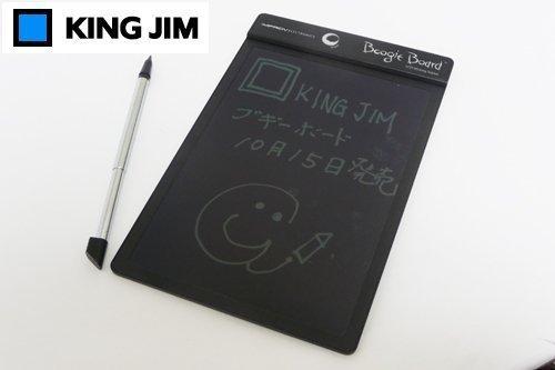KING JIM 「電子メモパッド」ブギーボード 黒 BB-1