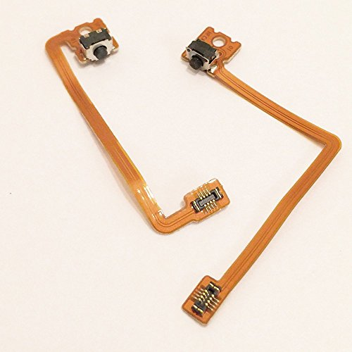 Left Right Shoulder Trigger Button Switch with Flex Ribbon Cable Replacement Parts For Nintendo 3DS XL / LL (Nintendo Replacement Parts compare prices)