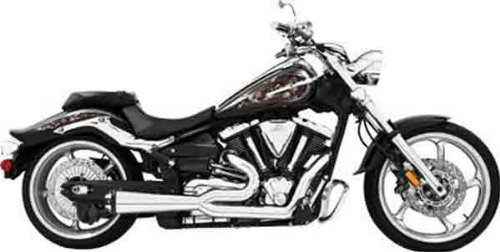 Freedom Performance 2-Into-1 Exhaust System - Chrome Muffler - Black Tip , Color: Chrome MY00145