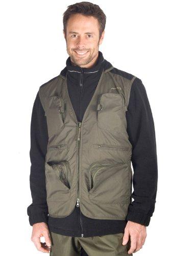 Corrib Men's Fishing Gilet - Colour Khaki Size Medium