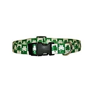 Yellow Dog Design Standard Collar, Medium, Shamrock