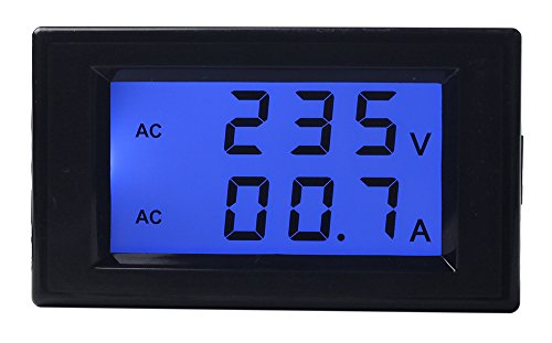 UCTRONICS AC 80-300V 100A Digital Multifunction Meter Dual Display Voltage Current Meter Volt Amp Measuring Monitor LCD Blue Backlight Display with Current Sense Transformer Coil (Current Transformer Coil compare prices)