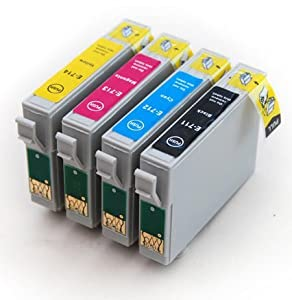 4 x COMPATIBLE Printer Ink Cartridges T0715 for Epson S20 S21 SX105 SX110 SX115 SX200 SX205 SX210 SX215 SX218 SX400FW SX405 SX410 SX415 SX515W SX600FW SX610FW D120 D78 D92 DX4000 DX4050 DX4400 DX4450 DX5000 DX5050 DX6000 DX6050 DX7000F DX7400 DX7450 DX8400 DX7450 DX9400 DX9400F B40W BX300F BX310FN BX600FW BX610FW. E-715 / T-715