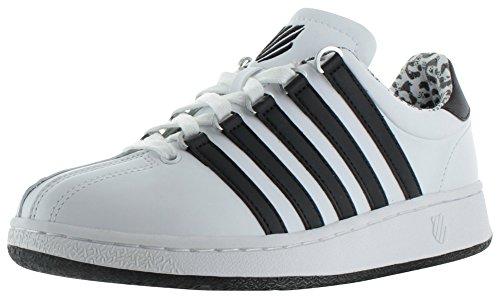 K-Swiss Women's Classic VN Casual Shoe, White/Black Leopard, 10 M US