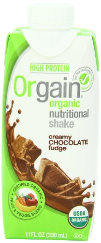 Orgain Creamy Chocolate Fudge, 11-Ounce Container (Pack of 12)