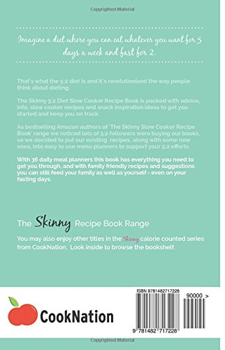 The Skinny 5:2 Diet Slow Cooker Recipe Book: Skinny Slow Cooker Recipe And Menu Ideas Under 100, 200, 300 And 400 Calories For Your 5:2 Diet: Volume 1 (Kitchen Collection)
