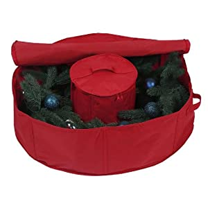 "30"" Holiday Wreath Bag with Center Storage"