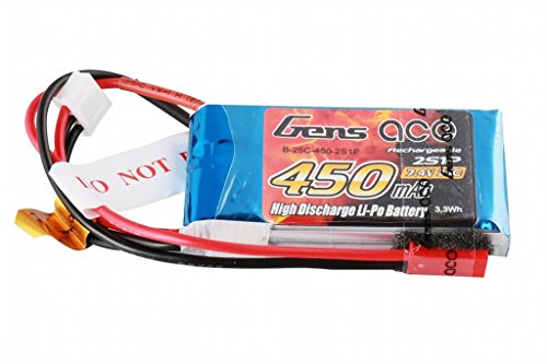 Gens ace 450mAh 7.4V 25C 2S1P Lipo Akku Pack for FPV Racing Quadcopters Diverse Racing Cars, Helikopter, Flugzeuge und Modellboote
