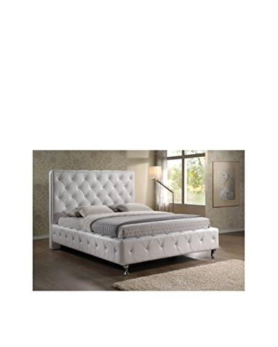 Baxton Studio Stella Crystal Tufted Bed