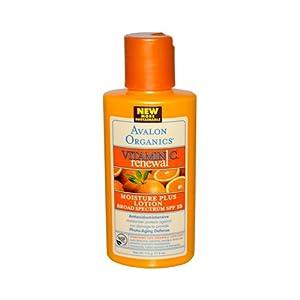 Avalon Organics Vitamin C Renewal Moisture Plus Lotion SPF 15 -- 4 fl oz
