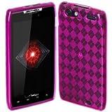 MOTOROLA RAZRダイヤモンドジェル ケース (au RAZR™ IS12M対応) Gel Diamond TPU Case + 液晶保護フィルム1枚【Pink(ピンク)】