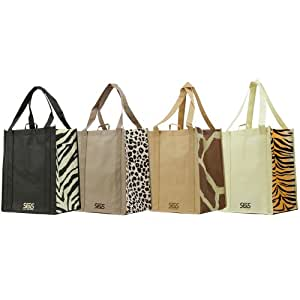 Graphic Pattern Prints - Reusable Reinforced Tote Bag Sets