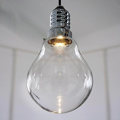 3W Modern Led Pendant Light With High-Transparence Glass Bulb Shade