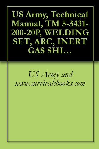 Us Army, Technical Manual, Tm 5-3431-200-20P, Welding Set, Arc, Inert Gas Shielded; Plastic Or Metal Lined Gu 3/64-Inch Wire, Dc, 115 V (Westinghouse Model Sa-135) (Fsn 3431-879-9709)