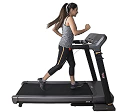 Cardio Maxx HF75 Foldable 3.0HP Air Cylinder Landing Fitness Motorized Treadmill (Black)