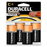 Duracell Coppertop Alkaline Batteries, C4, 4 ct.