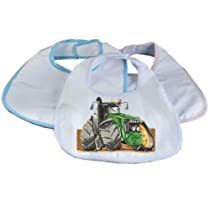 TRACTOR JOHN DEERE Koolart BABY BIB (Personalised and choice of ribbing colour FREE)2020