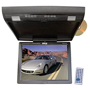 PYLE PLRD153IF 15.1'' Flip Down Monitor w/ Built In DVD/SD/USB player w/ Wireless FM Modulator/ IR Transmitter