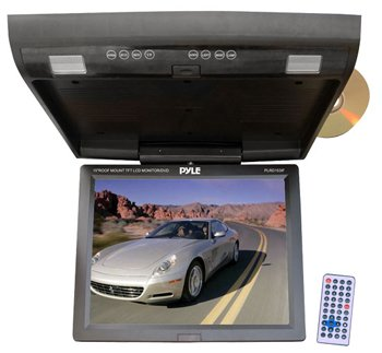 PYLE PLRD153IF 15.1'' FLIP-DOWN MONITOR WITH BUILT-IN DVD/SE
