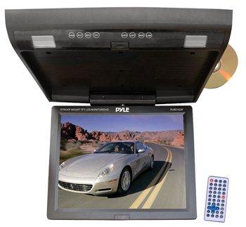 PYLE PLRD153IF 15.1'' Flip Down Monitor w/ Built In DVD/SD/USB player w/ Wireless FM Modulator/ IR Transmitter