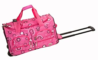 Rockland Luggage Rolling 22 Inch Duffle Bag, Pink Pearl, One Size