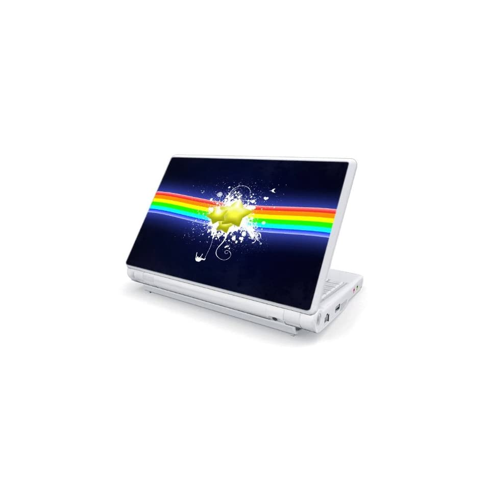 Rainbow Stars Decorative Skin Cover Decal Sticker for Asus Eee PC 1005HA / PC 1008HA Netbook Laptop Notebook