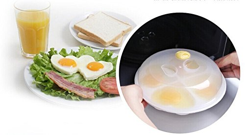 Delicate Kitchen Tools Microwave Egg Poacher Kitchen Gadgets Silicone Oven 4 Eggs Heart-shaped Pancake Ring Mould Cooking Tool (Db Egg Cooker compare prices)