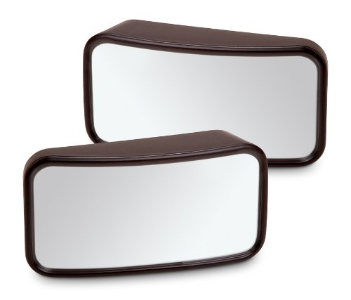 Set of 2 Blind Spot Mirrors for Cars Autos Trucks Minivans - Large Size 3.9 W x 2.5 H inches - Adhesive Sticky Tape Back - Convex Shape For 3X Wider View Than Standard Mirrors by Perfect Life Ideas