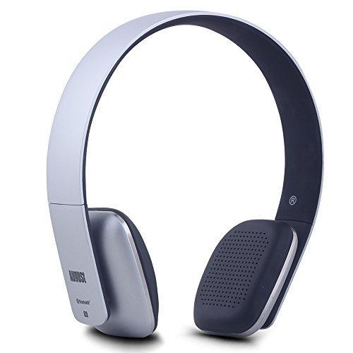 August EP636 - Cuffie stereo Senza Fili Bluetooth NFC Over-Ear - Auricolari con Microfono intagrato e batteria ricaricabile - Compatibile con Smartphones, iPhone, iPad, PC, Tablet, Telefonini