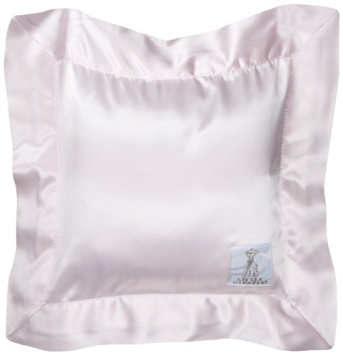 Little Giraffe Chenille Satin Pillow, Pink