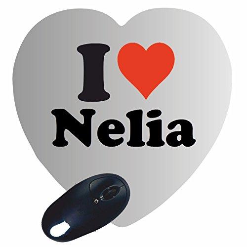"""Regali Esclusivi: Cuore Tappetini per il Mouse """"I Love Nelia"""", un Grande regalo viene dal Cuore - Ti amo - Mouse Pad - Antisdrucciolevole - Punte di Natale"""