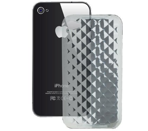 Apple Housse en silicone + Film de protection d'écran pour iPhone 4 Transparent