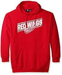 NHL Detroit Red Wings Men's Red Wings Fleece Pullover Hoodie, X-Large/Tall, Red