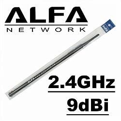 Alfa 9dBi WiFi Booster SMA OMNI-Directional High-Gain Screw-On Swivel Antenna With magnetic base for Alfa - WUS036H WUS036H1W APA05 WUS036NH WUS036NEH WUS048NH WUS036EW WUS051NH