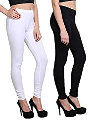 MNW Women's 4 Way stretch plain leggings (Pack of 2) (X-Large)